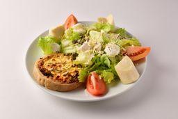 Salada Quiche de Alho Poró