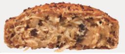 Torta de frango com cogumelo