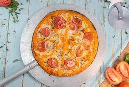 Pizza Grande De Frango Com Cheddar