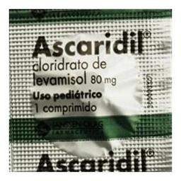Ascaridil Ped 1 Comprimidos