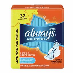 Absorvente Always Basicp Seca Com Abas 32 Und