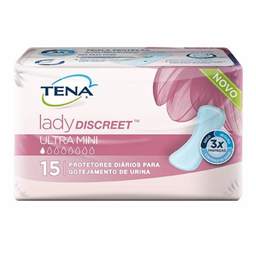 Absorvente Tena Lady Discreet Ultra Mini Com 15 Und