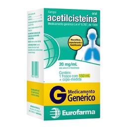 Acetilcisteína 20mg Xarope Eurofarma 150 mL