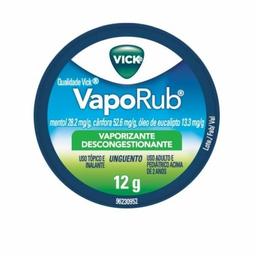 Descongestionante Vick Vaporub 12 g