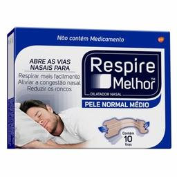 Dilatador Nasal Pele Normal Respire Melhor 10 Und