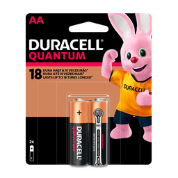 Pilha Alcalina AA Pequena DURACELL Quantum com 2 unidades