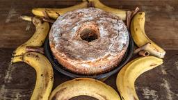 Bolo de Banana com Canela