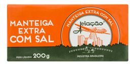 Manteiga Aviação com Sal Tablete - 200g