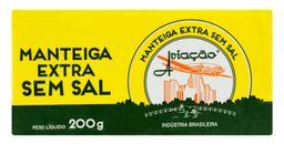 Manteiga Aviação sem Sal Tablete - 200g