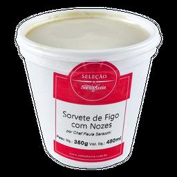 Sorvete Figo Com Nozes Santa Luzia 480 mL