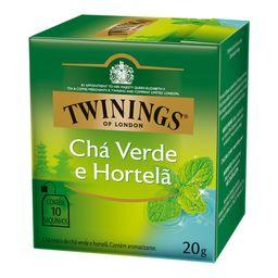 Chá Twinings Verde Com Hortelã 10 Und
