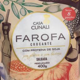Farofa Crocante Casa Cunali Proteína Soja