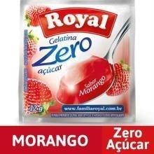 Gelatina em pó ROYAL Zero Morango 12g