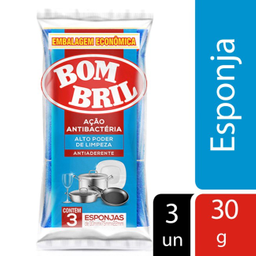 Esponja Multiuso Antiaderente Bombril 3 Und
