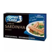 Filé Sardinha Gomes da Costa Óleo 125 g