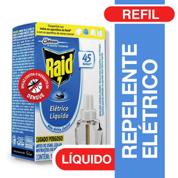 Inseticida Elétrico Líquido Raid 45 Noites Refil 32,9 mL