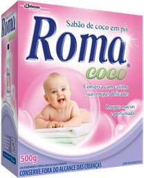 Lava Roupas Pó Coco Roma 500 g