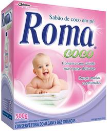 Lava Roupa Em Pó Roma Coco 500 g