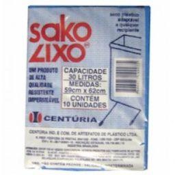 Saco Lixo Centuria 30L Branco Com 10 Und
