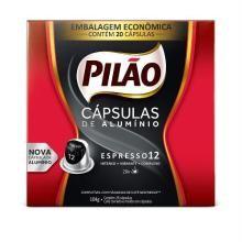 Café Pilão Espresso 12 Com 20 Cápsulas