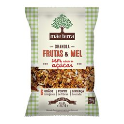 Granola Mãe Terra Sem Açúcar Frutas / Mel 250 g