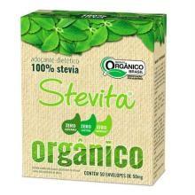 Adoçante Em Pó Stevita Orgânico Sachê 50 Mg