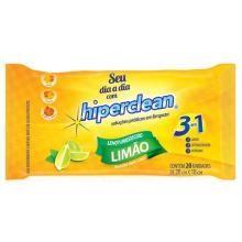 Lenço Umedecido Multiuso Limão Hiperclean 20 Und