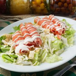 Caesar Salad Com Salmão Defumado