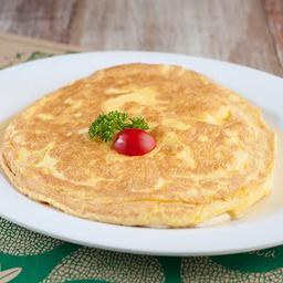 Omelete de Frango com Queijo Meia Cura e Alho Poró