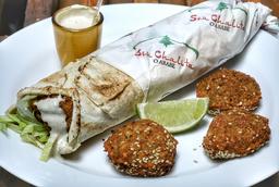 Kebab de Falafel + Homus