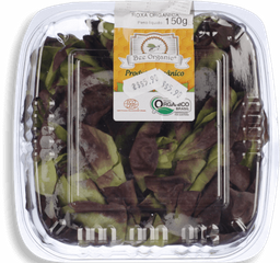 Alface Baby Lisa Roxa Orgânico Go Green 150 g