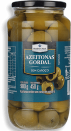 Azeitona Gordal Sem Caroço Conserva 900 g