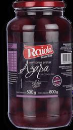 Azeitona Raiola Preta Chilena 500 g