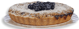 Torta Simples Crumble Blueberry 750 g