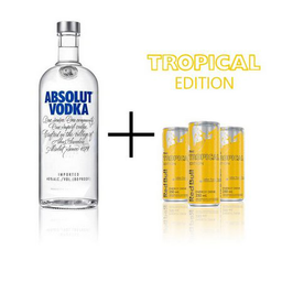 ABSOLUT 1 L + 6 RED BULL TROPICAL 250ml