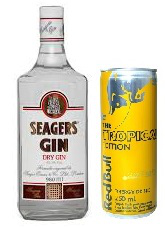 GIN SEAGERS + 5 RED BULL TROPICAL 250ml