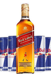 RED LABEL  1L+ 6 RED BULL 250ml