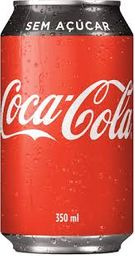 Coca-Cola Sem Açúcar - Lata 350ml