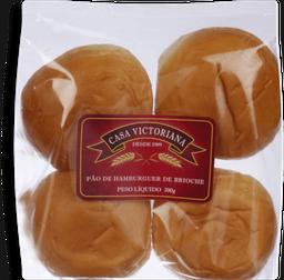 Pão De Hamburguer Brioche 4 Und 200 g