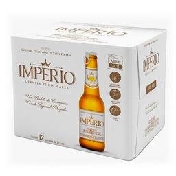 Pack Cerveja Império Lager Long Neck Com 12 Und 275 mL
