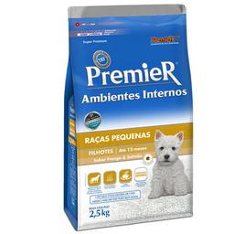Ração Premier Ambientes Internos Cães Filhotes 2,5 Kg