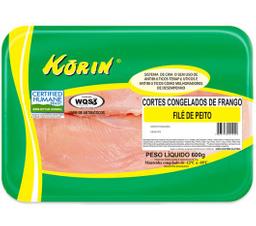 Filé De Peito De Frango Congelado Korin 600 g