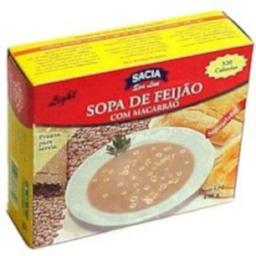 Sopa De Feijão Com Macarrão Light Sacia 450 g