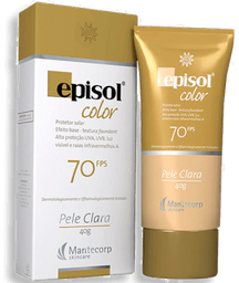Protetor Solar Episol Color Cor Clara Fps 70 40 g