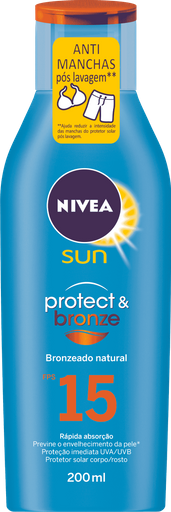 Protetor Solar NIVEA SUN Protect & Bronze FPS15 200mL