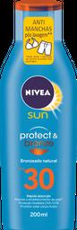 Protetor Solar NIVEA SUN Protect & Bronze FPS30 200 mL