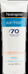 Protetor Solar Neutrogena Sun Fresh FPS 70 200 mL