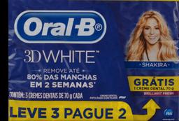 Kit Creme Dental Oral B 3D White 70g Leve 3 Pague 2
