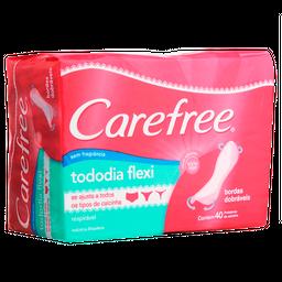 Protetor Diário Carefree Todo Dia Flexi sem Perfume 40 Unds