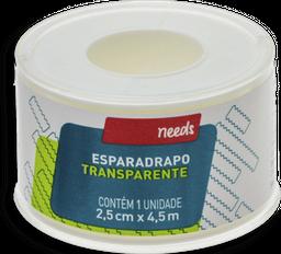Esparadrapo Needs Transparente 2,5cm X 4,5m 1 Und